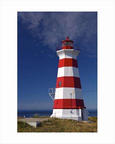 Western Light, Lighthouse on Briar Island, Bay of Fundy, Digby Neck and Islands Scenic Drive, Highway 217, Nova Scotia, Canada. by Corbis
