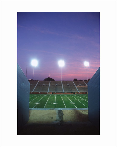 Empty Football Stadium at Dusk, Tennessee, USA by Corbis