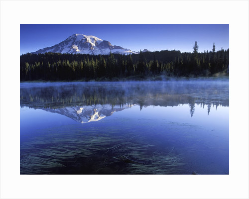 USA, Mount Rainier National Park, Morning View from Reflection Lake by Corbis