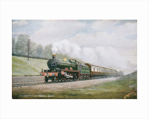 Postcard of Cornish Riviera Express of the Great Western Railway by Corbis