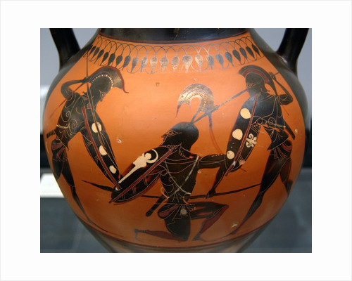 Amphora with warriors attributed to the manner of the Lysippides Painter by Corbis