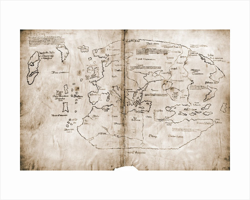 Vinland Map of New World by Corbis
