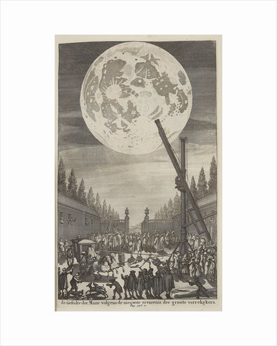 Etching of lunar disk by Jan Goeree