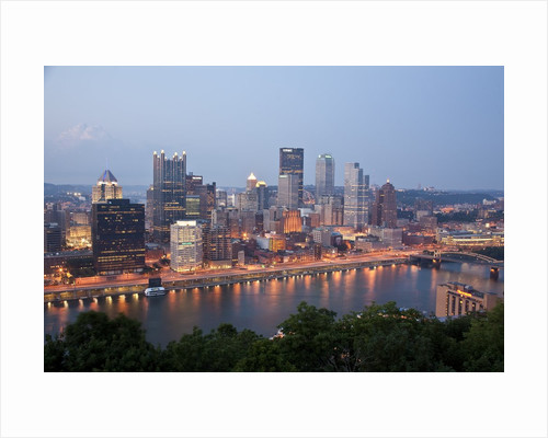 Pittsburgh skyline along the Monongahela River by Corbis