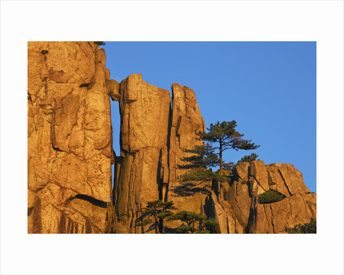 Rock formations in the Yellow Mountains in China by Corbis