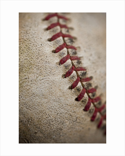 Close-up of worn baseball surface by Corbis