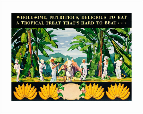 Advertisement for bananas by Corbis