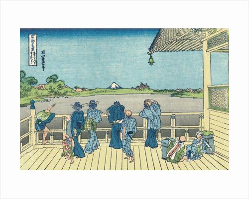 Sazai Hall of the Five-Hundred-Rakan Temple by Katsushika Hokusai