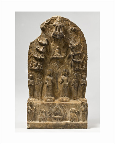 Northern Qi Dynasty stele with Twin-Bodhisattvas by Corbis