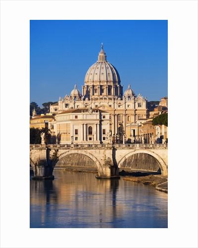 Sant'Angelo Bridge and St. Peter's Basilica by Corbis