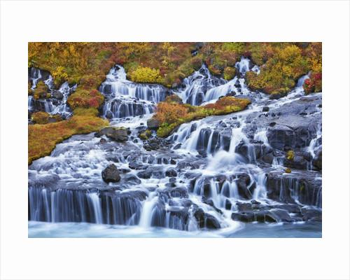 Waterfall Hraunfossar by Corbis