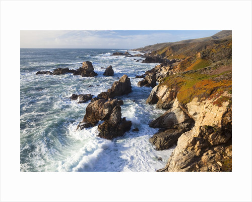 Natural rock arch in surf at Garrapata State Park by Corbis