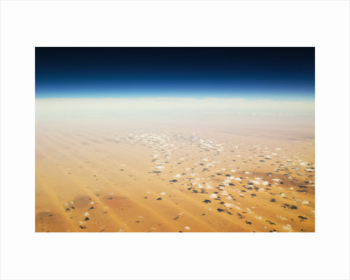 Aerial view of a desert by Corbis