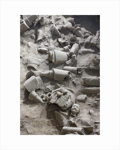 Remains of terracotta soldiers by Corbis