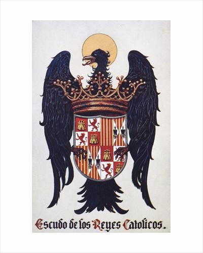 Crest of Spanish Catholic kings by Corbis