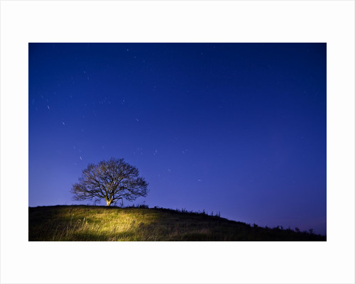 Burrow Hill, Somerset, at night by Corbis