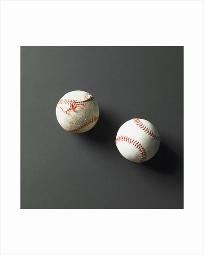 Directly-above view of Baseballs by Corbis