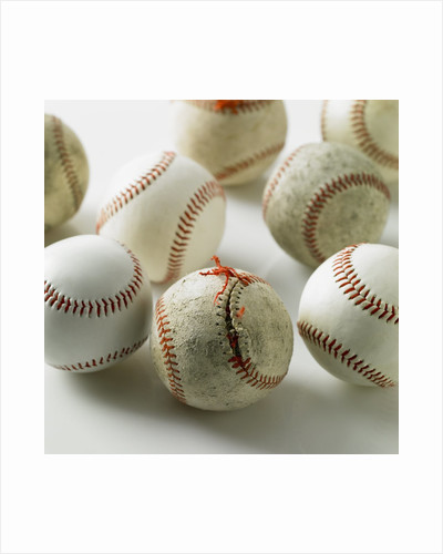 Old and new baseballs gathered together by Corbis