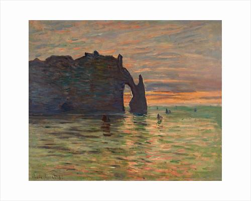 Coucher de Soleil a Etretat by Claude Monet