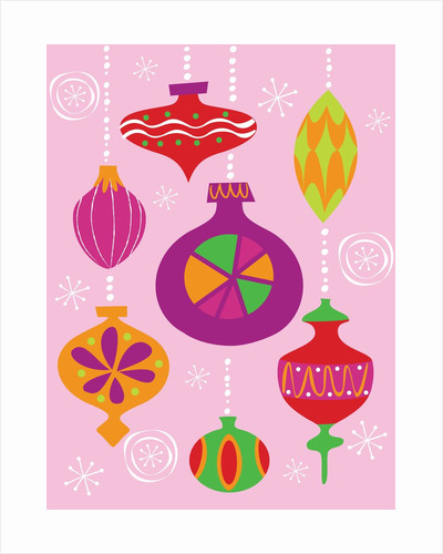 Numerous Christmas decoration illustrated in different styles and colors by Corbis