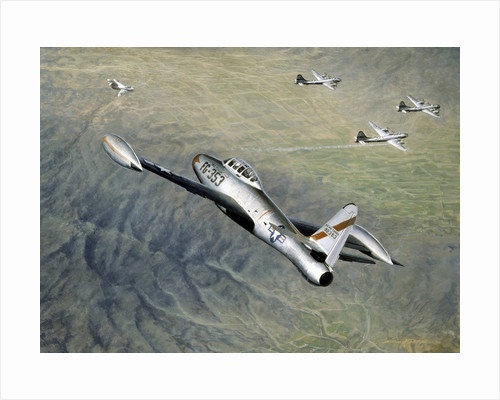 American fighter planes flying over North Korea by Corbis