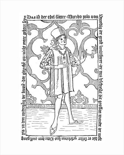 Marco Polo, Medieval Venetian merchant and traveller by Corbis