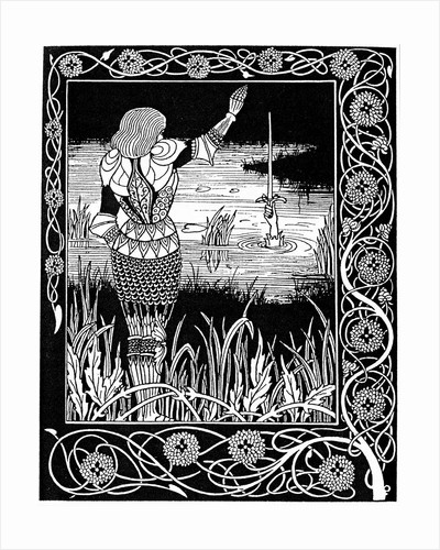 Excalibur being reclaimed by the Lady of the Lake by Corbis