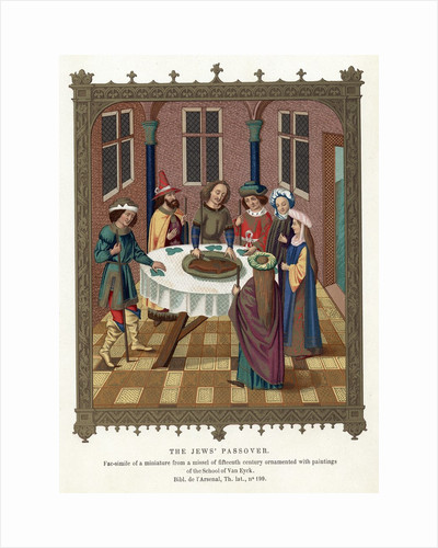 Medieval Passover scene by Corbis