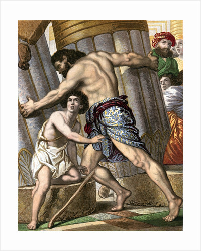 Samson pulling down the Temple of Dagon by Corbis