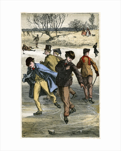 Ice skaters by Corbis