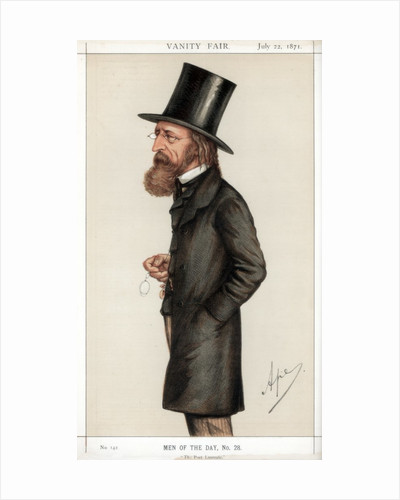 Caricature of Alfred Lord Tennyson by Corbis