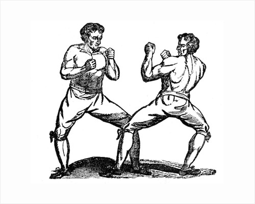 Men bare-knuckle boxing by Corbis
