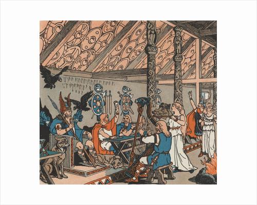 Viking Soldiers celebrating in Valhalla by Corbis