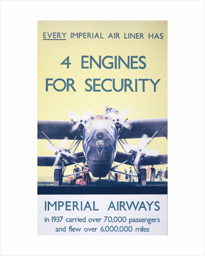 Imperial Airways: 4 engines for security. by Corbis