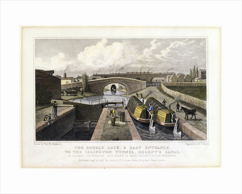 The Double Lock and East Entrance to the Islington Tunnel by Corbis