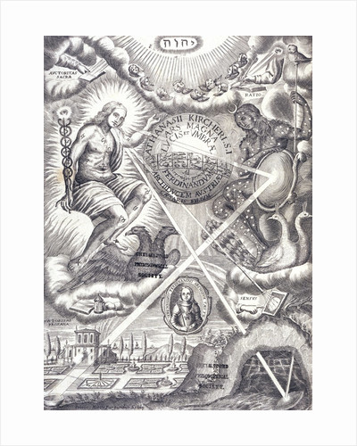 Frontispiece from book by Athanasius Kircher