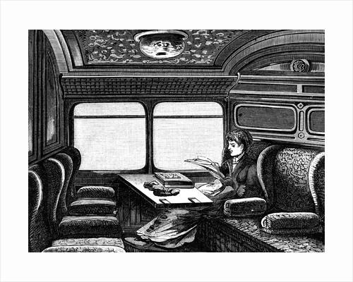 Woman passenger on Orient Express by Corbis