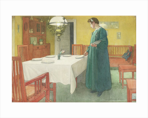 The Household (Lisbeth Setting the Table) by Carl Larsson