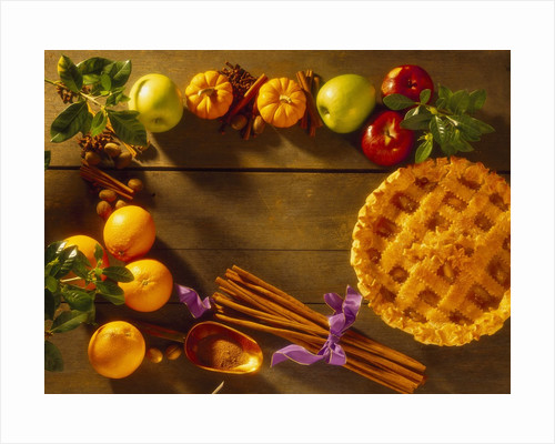 Pie and Raw Fall Ingredients by Corbis