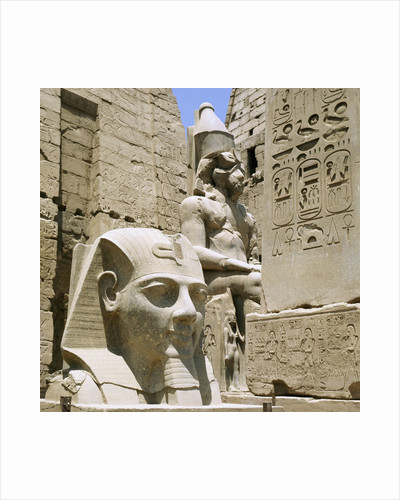 Monumental sculptures and relief carvings at Luxor by Corbis