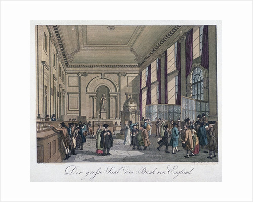 The Great Hall of the Bank of England by Augustus Charles Pugin