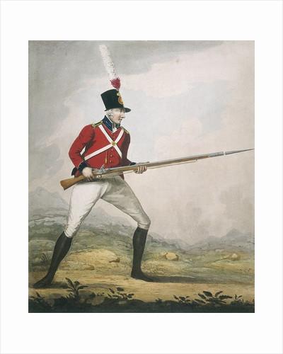 Military figure in the uniform of an unidentified volunteer regiment by Corbis