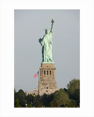 Statue of Liberty seen from behind, New York City by Corbis