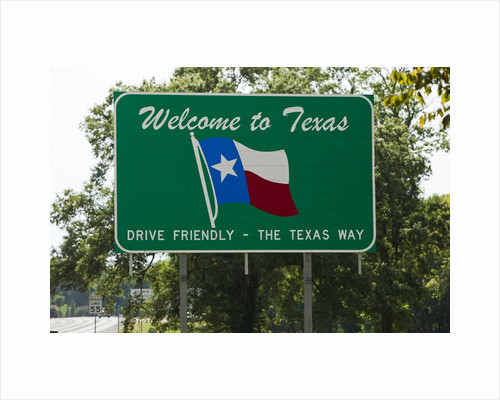 Welcome to Texas Sign by Corbis