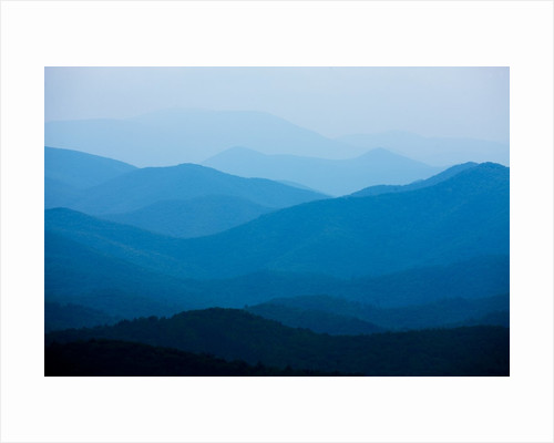 Blue Mountains, Blue Ridge Parkway, Virginia by Corbis