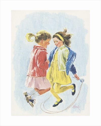 Girls jumping rope by Corbis