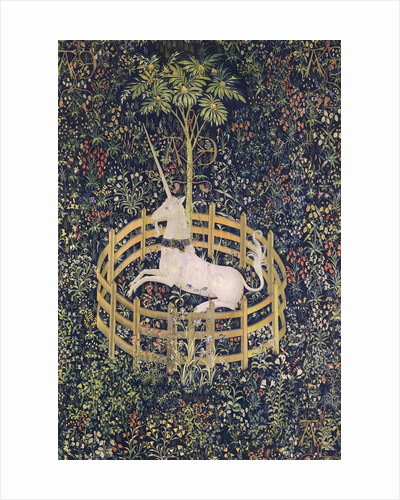 The Unicorn in Captivity tapestry by Corbis