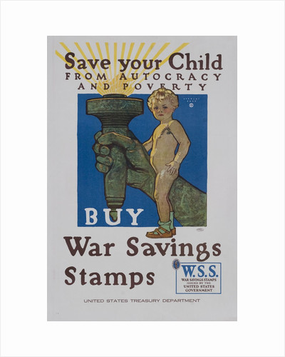 Save Your Child from Autocracy and Poverty poster by Corbis