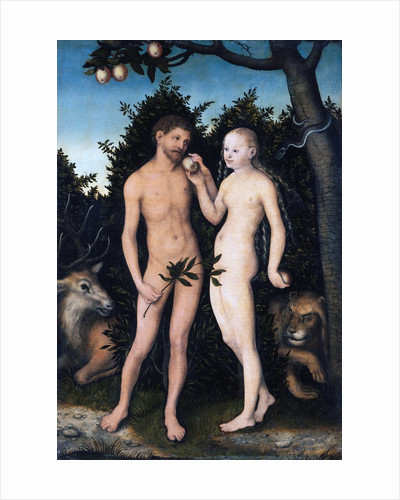 Adam and Eve in Paradise (The Fall) by Lucas Cranach the Elder