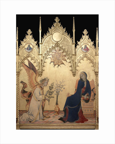 Detail of Annunciation with Two Saints by Simone Martini